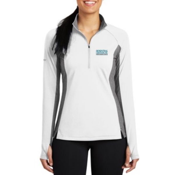 Sport-Tek® Ladies Sport-Wick® Stretch Contrast 1/2-Zip Pullover - LST854 - EMBROIDERED
