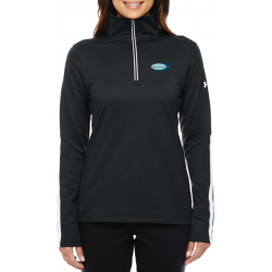 Under Armour Ladies' Qualifier 1/4 Zip Pullover- 1276355 - EMBROIDERED