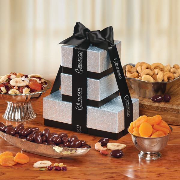 Silver & Black Savory Delight Tower