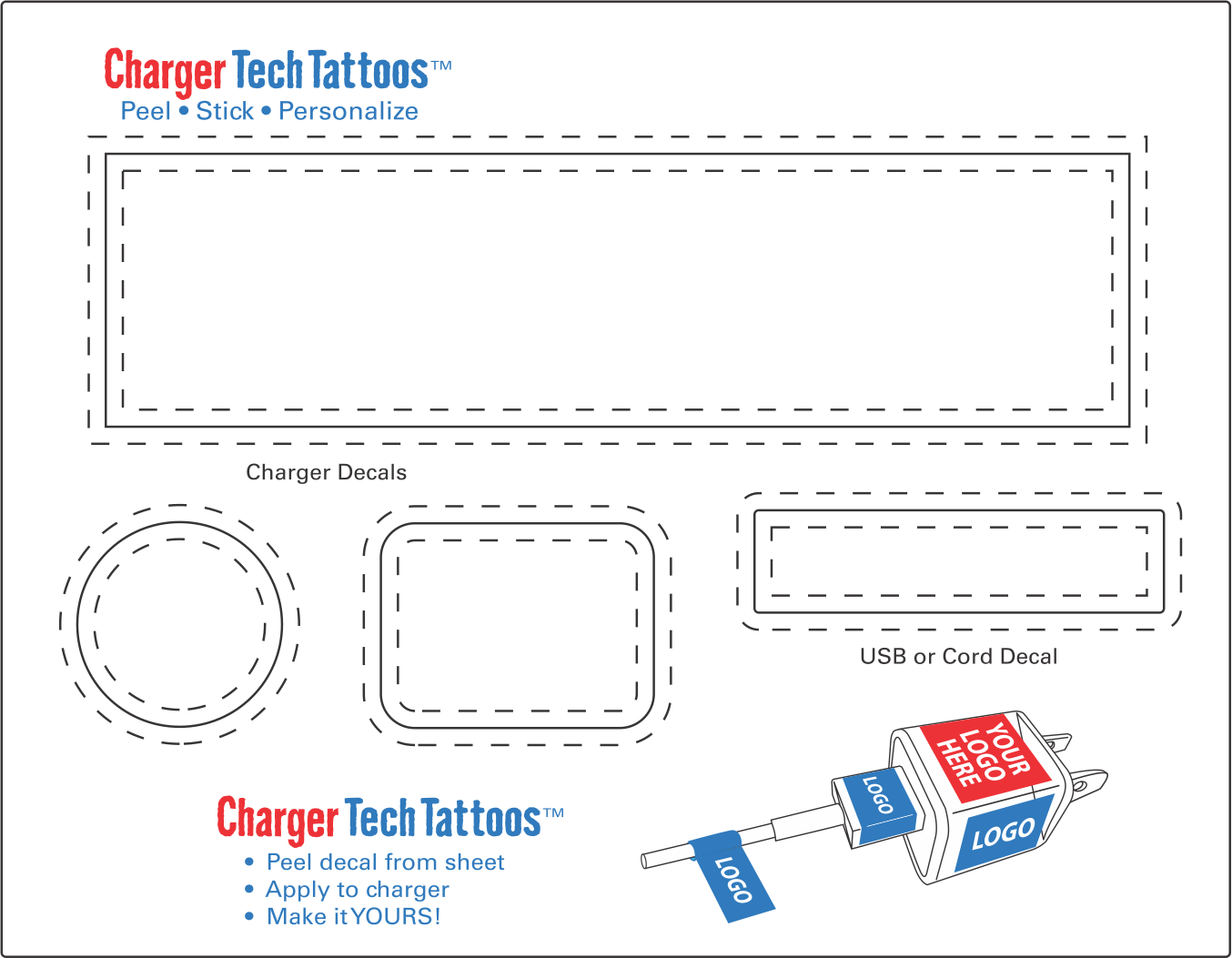 Charger Tattoo Template